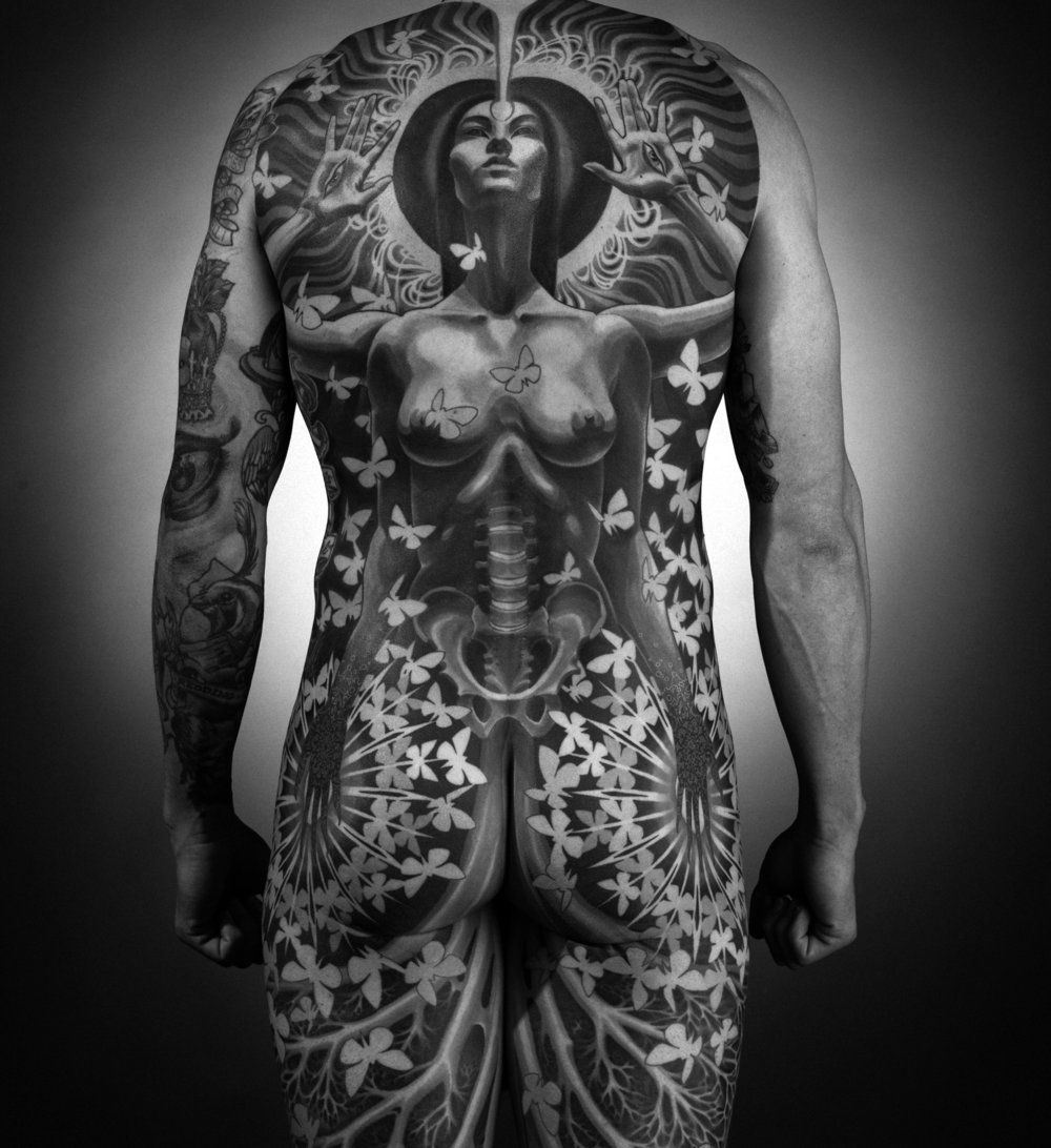 THE PATH: VOL1: CORPSE LIGHT  - THE TATTOOS OFADRIAN LEE PHOTOGRAPHED BYMAX DOLBERG