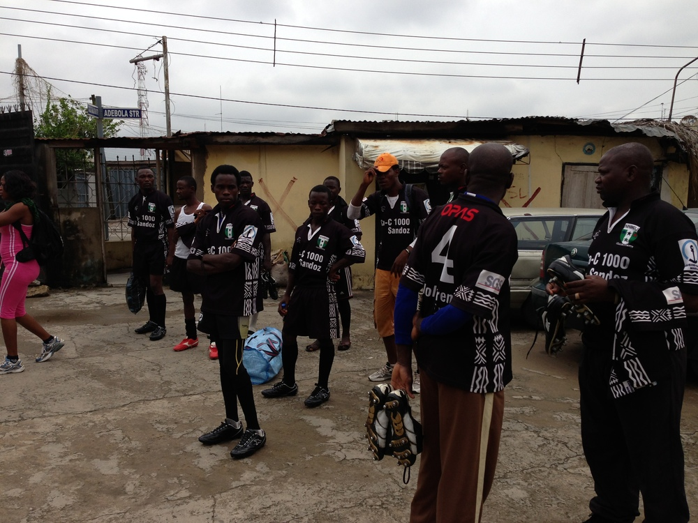 The North prepare to leave their hotel in Lagos enroute National Stadium, Surulere.
