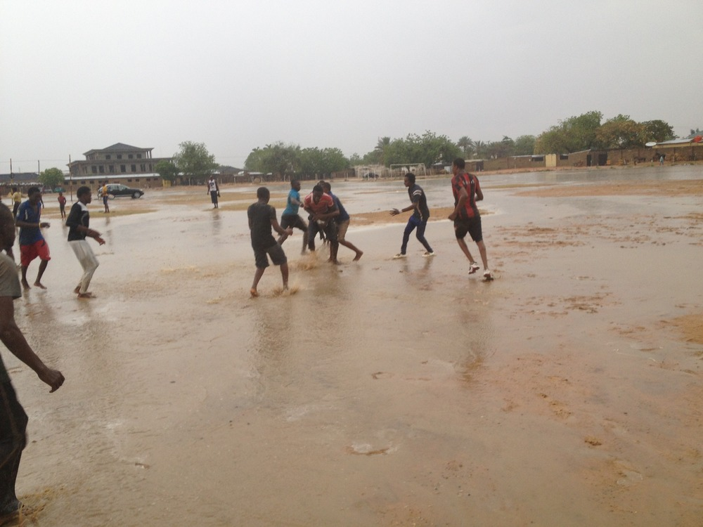 Rain + dirt = mud!