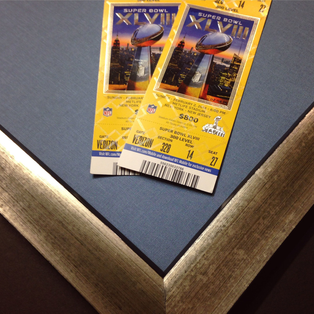 Superbowl CLVIII tickets ready to frame