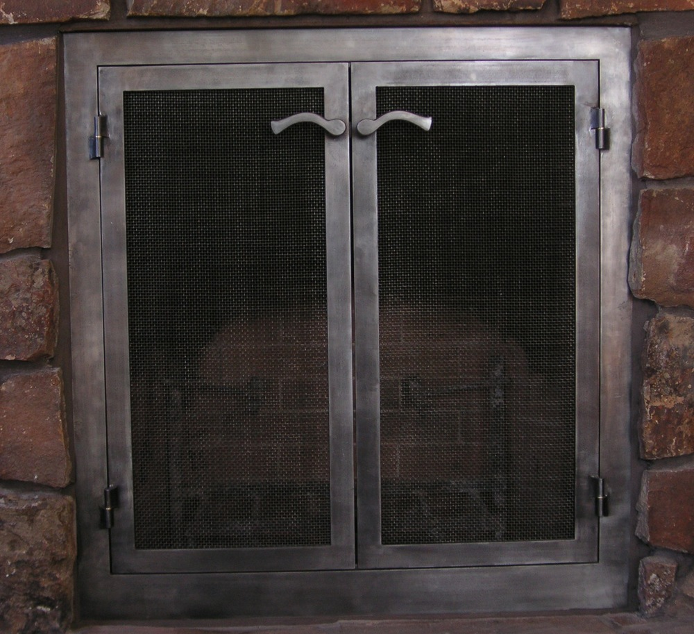 steel firescreen with custom levers.jpg