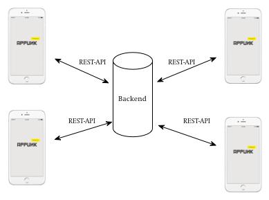 Aufbau App mit einem Backend und einer REST-API