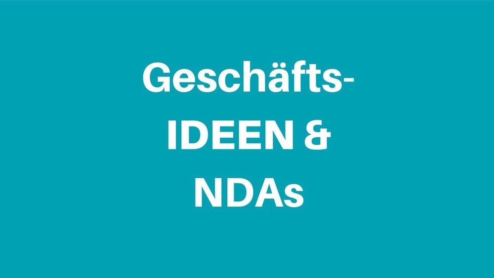 NDA &(Geschäfts-)Ideen schützen