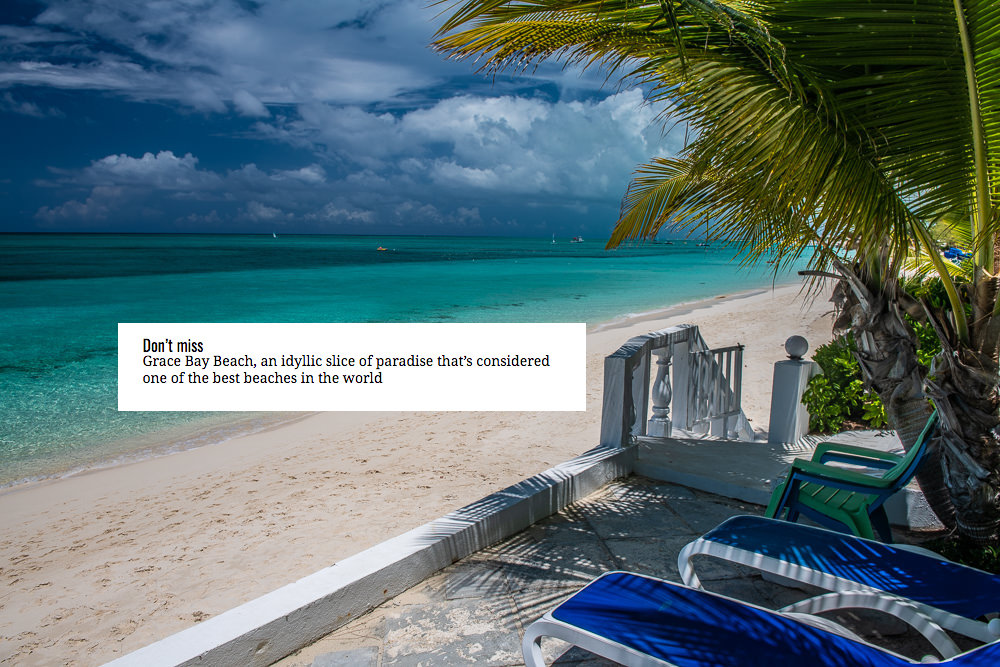 From your own private beachfront villa, you can look upon Grace Bay Beach each morning during your stay at Villa Oasis!