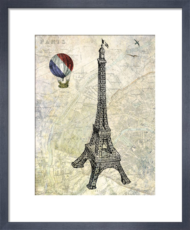 Eiffel Map_framed print from King & McGaw.jpg