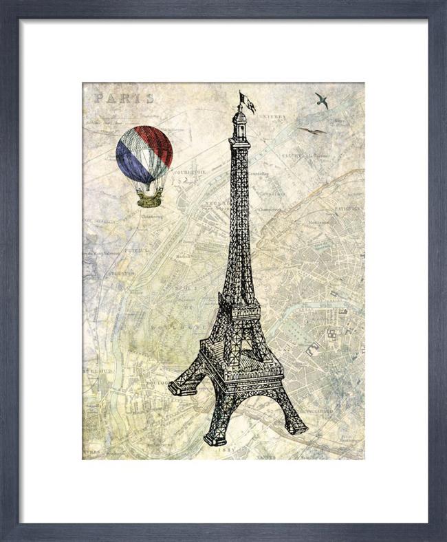 Eiffel Map_framed print from King & McGaw.jpg