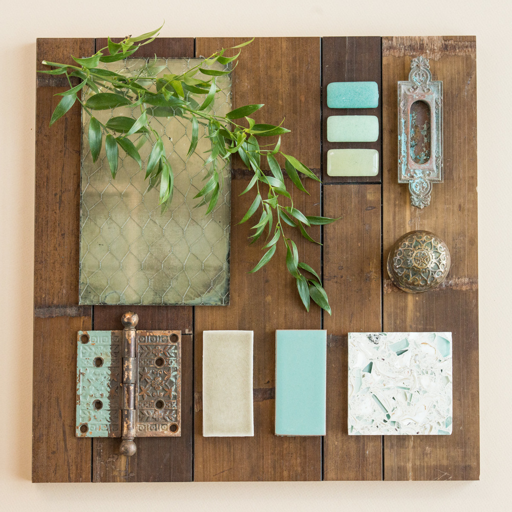 Interior Tile Flat Lay Styling