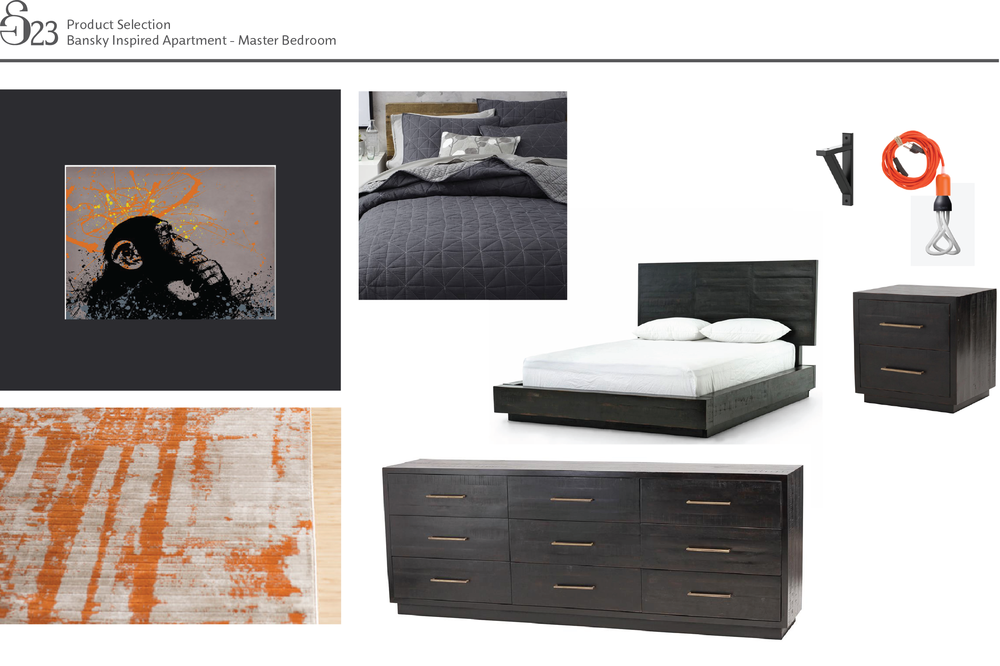 Product Selection - Master Bedroom