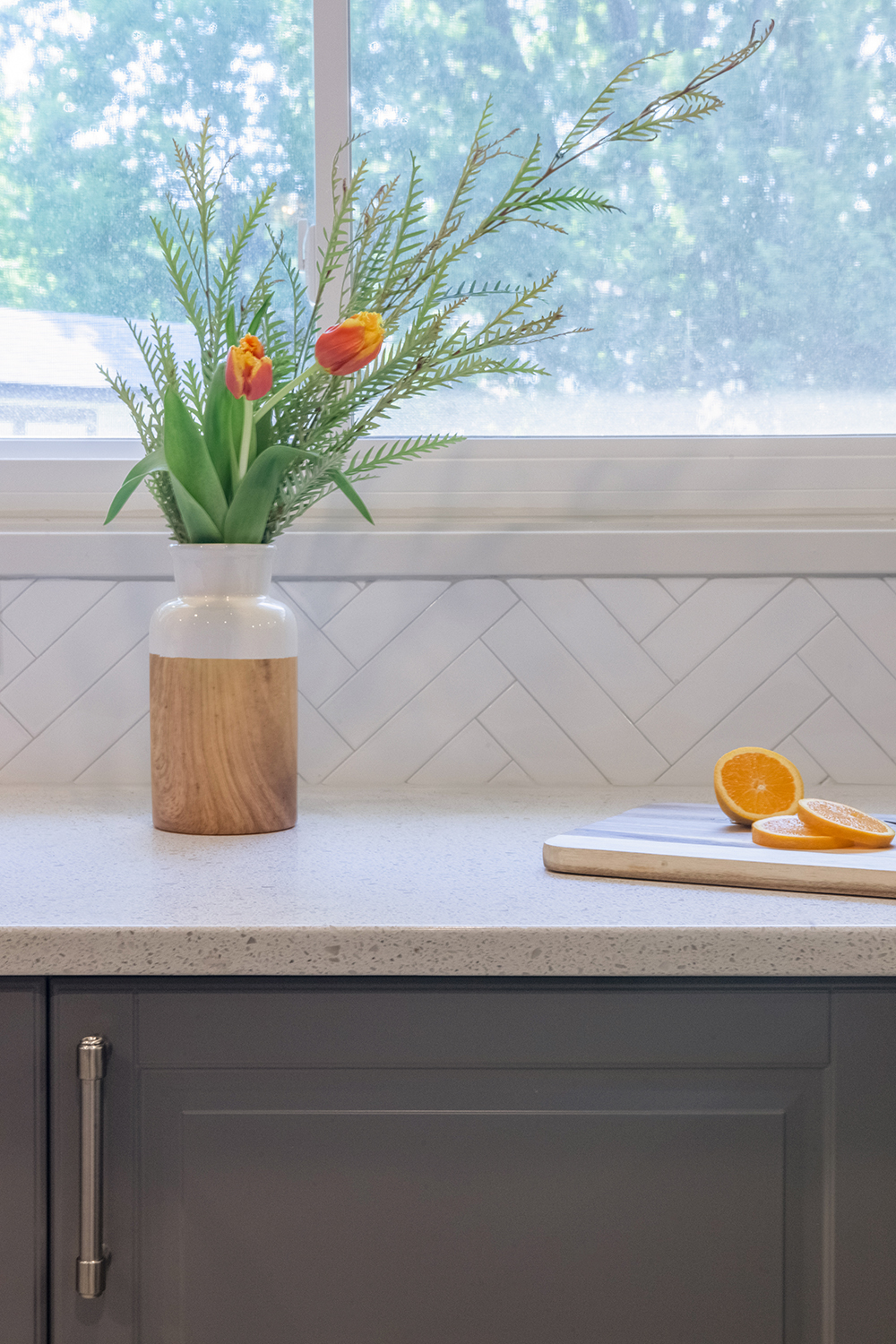 Herringbone Tile from the Cherry Hill Renovation Project