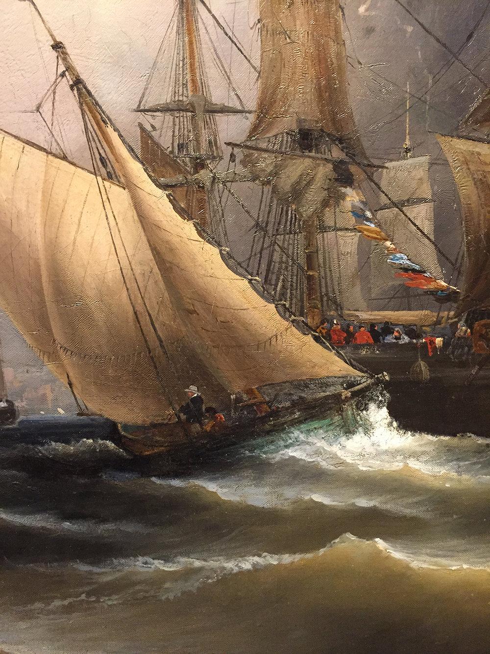 View of Philadelphia (detail), by James Hamilton