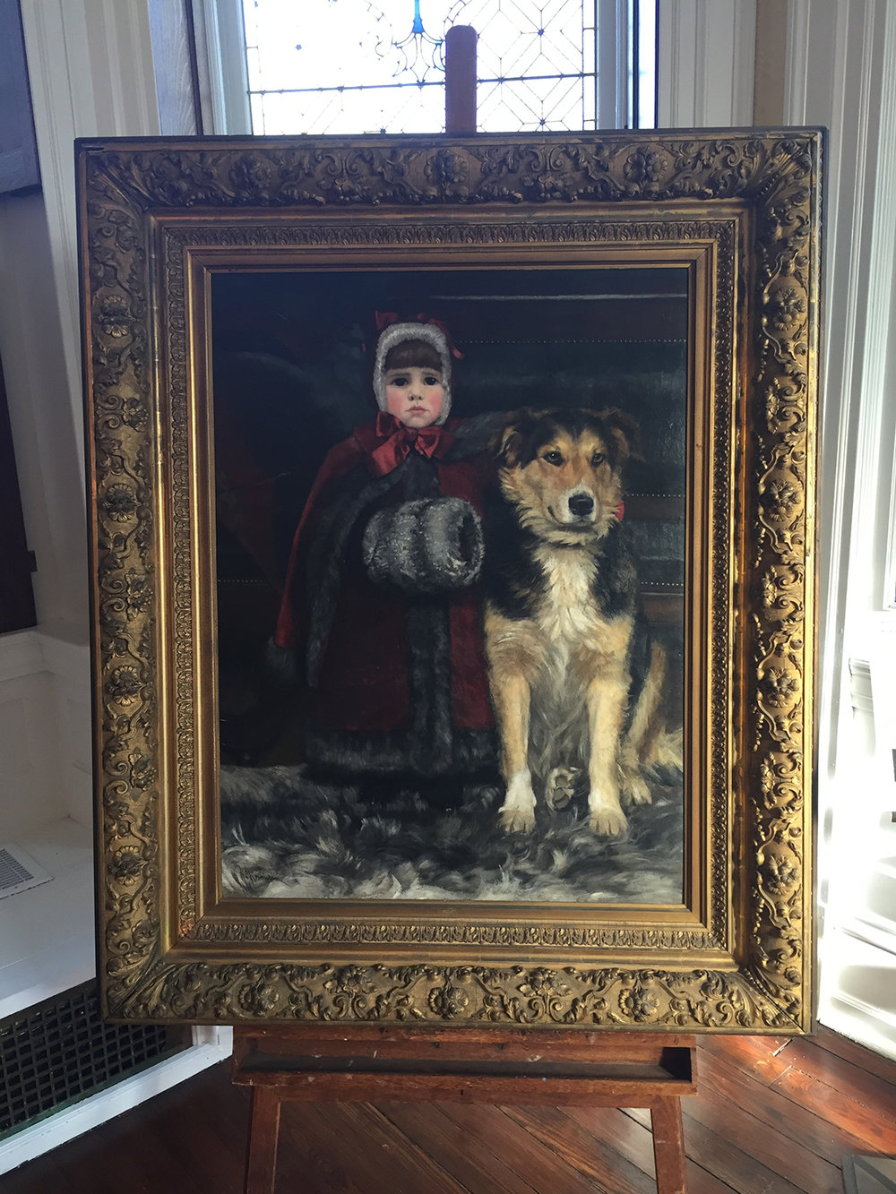 Martha Hovenden and Her Dog, by Helen Corson Hovenden