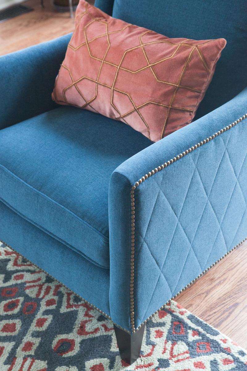 Blue Accent Chair