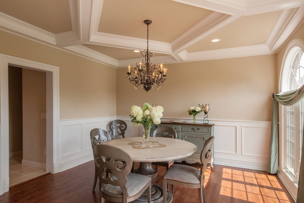 Before and After French Inspired Dining Room