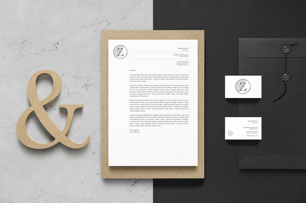 Z Domus Designs Brand Identity Mock-up