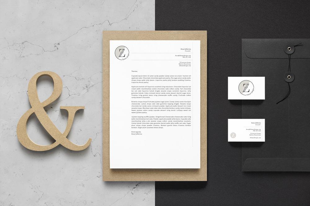Z Domus Designs Brand Identity Mock-up