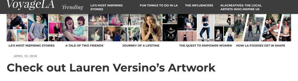 VoyageLA Lauren Versino featured artist bio
