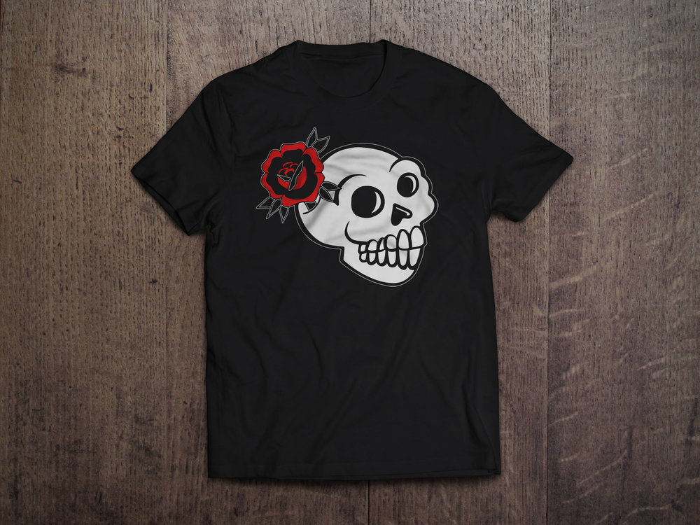 Growing Stoked Skull Design $25   Our buddy Stokes Skull is back! We have a little flower here to show that anything can regrow on something that seems dead! Available in a multitude of styles, colors and sizes.  Click the picture above to be brought to the Threadless store for ordering.