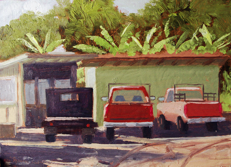 Trucks at the Sugar Mill