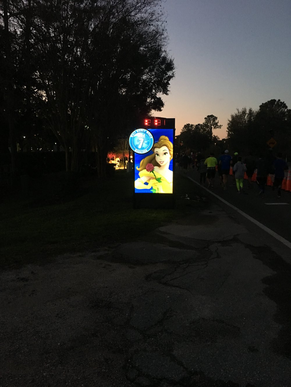 Sunrise at mile 7