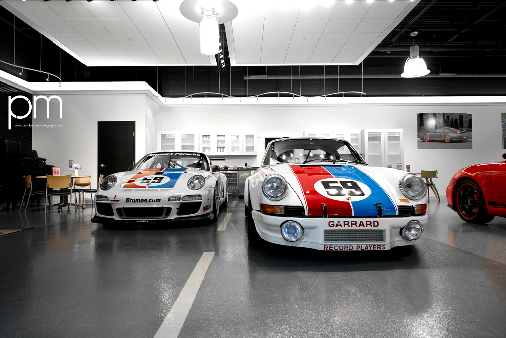 Porsche GT3 Cup Car and a 911 Carrera RSR. ©Patrick McCue 2013.