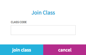 Join class popup