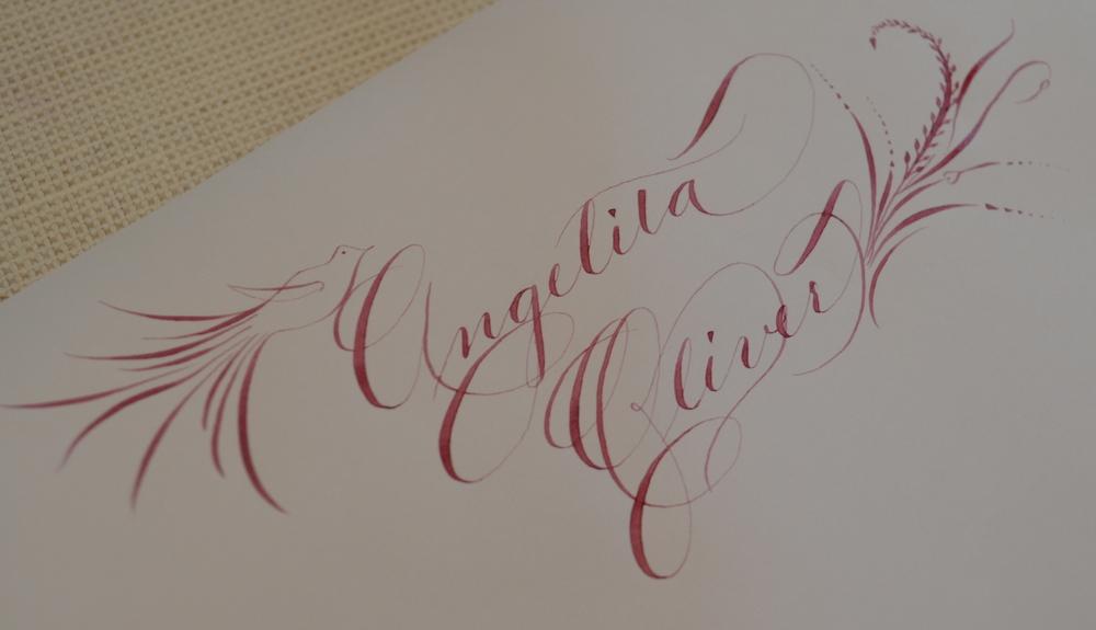 Wedding Calligraphy Sample Houston Calligraphy