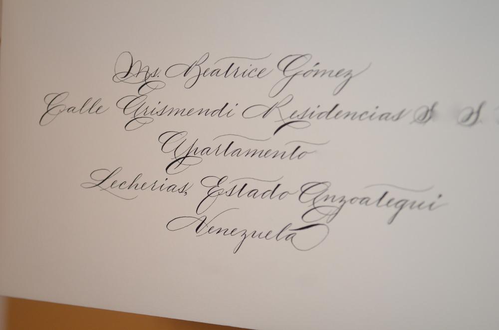 Houston Calligrapher Traditional Spencerian Bella