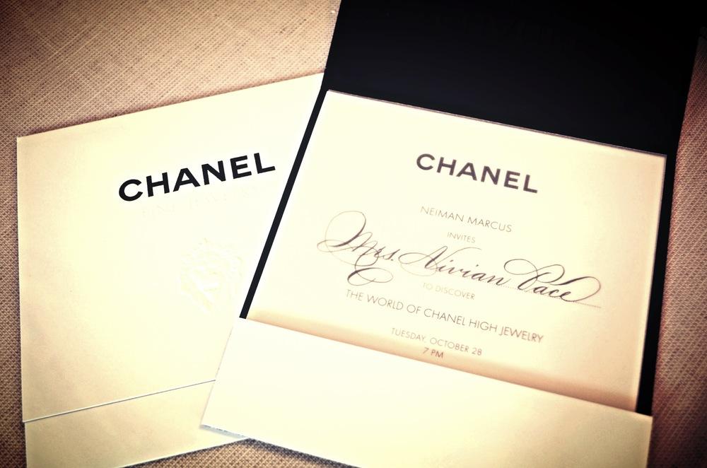 Houston Calligrapher Chanel Neiman Marcus Event