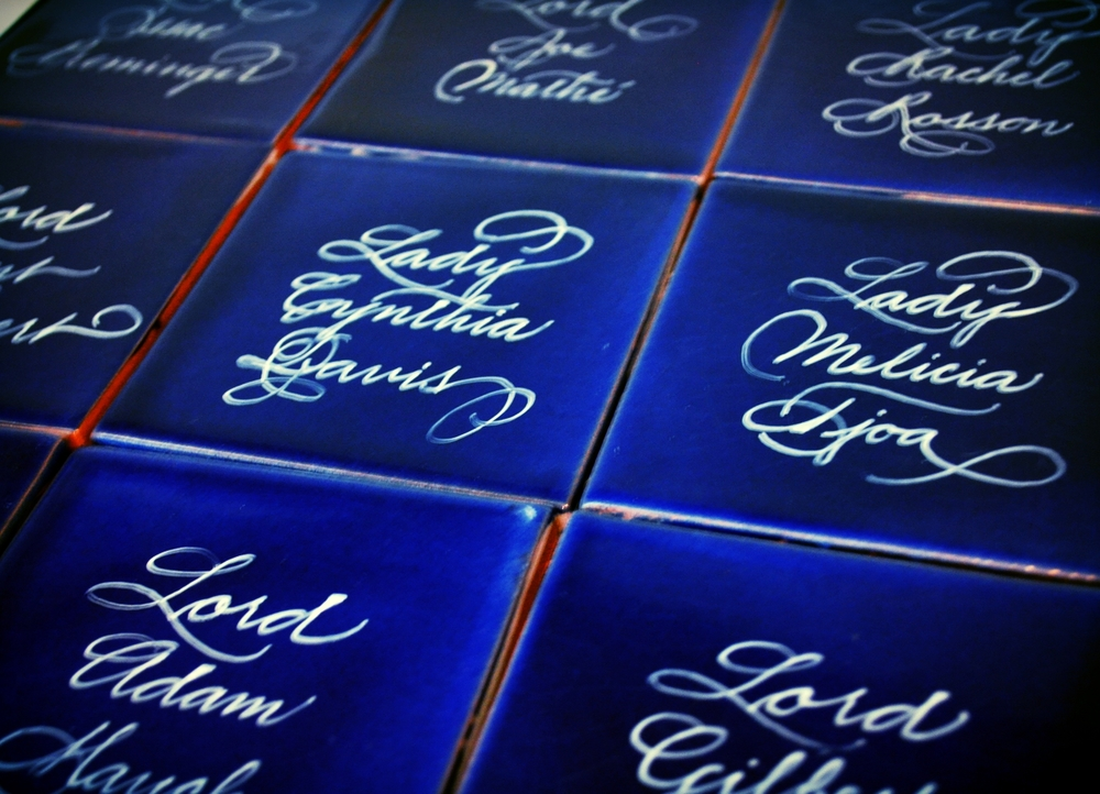Houston Calligrapher Tiles 2 Feb 2015.JPG