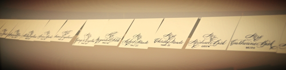 Place Cards With Wax Seals Houston Calligraphy Bella