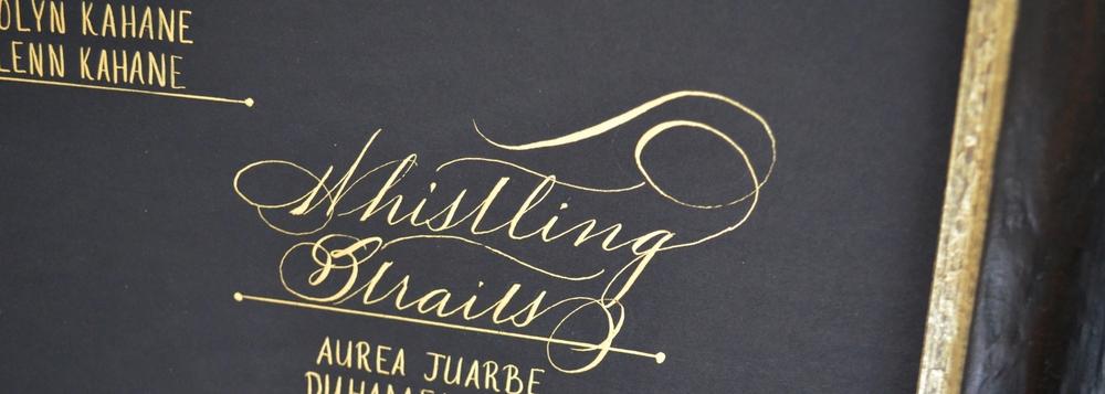 Bella grafia calligraphy wine bottle engraving houston