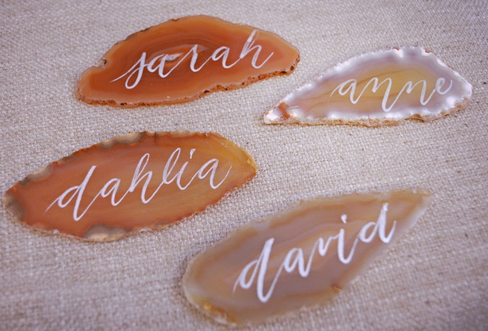 Agate Stone Place Card Calligrapher Houston 18 Aug 2015 4.jpg