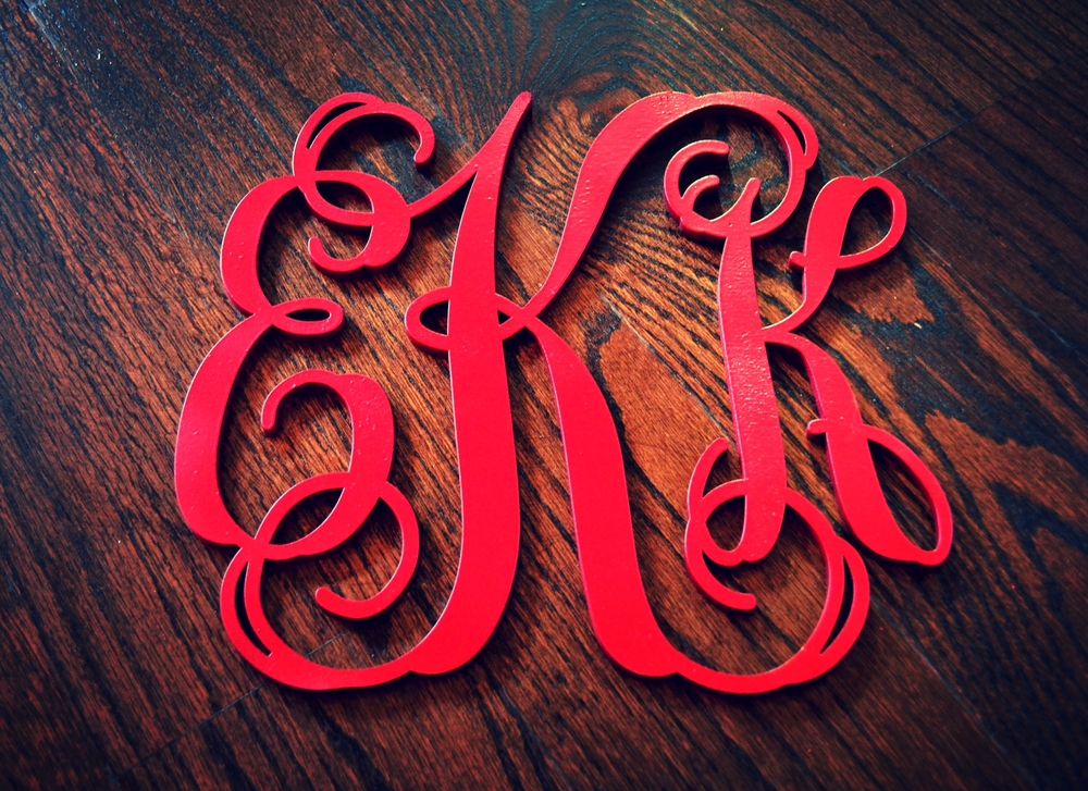 Houston Calligraphy Calligrapher laser cut monogram 31 Aug 2015 5.jpg