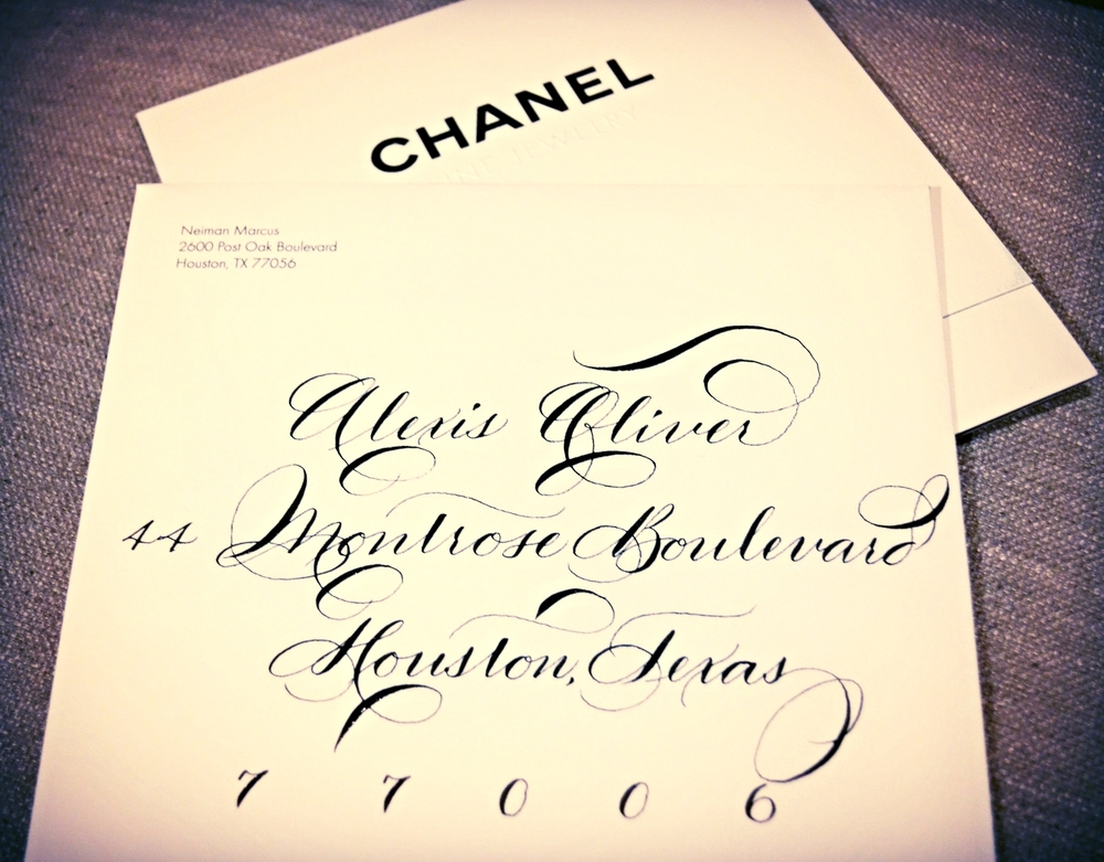 Houston Calligraphy Calligrapher - 2015 Chanel & Neiman Marcus Event 3.jpg