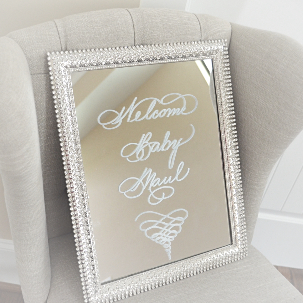 Houston Mirror Calligraphy