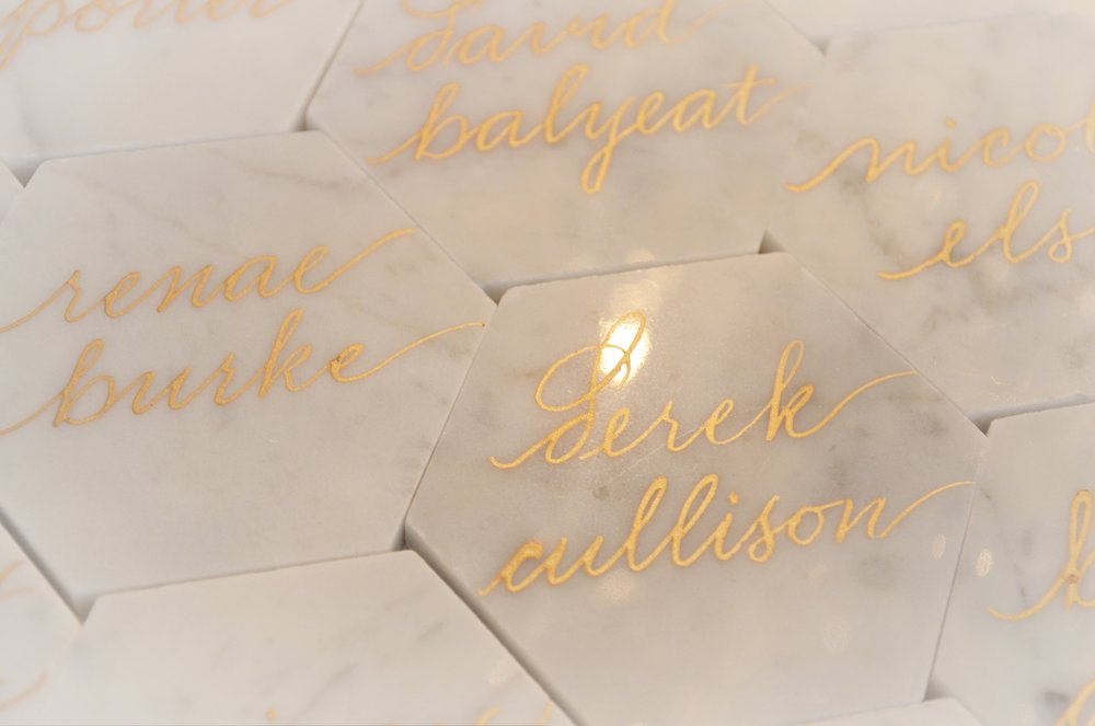 Houston Calligraphy White Marble Tile 1.JPG
