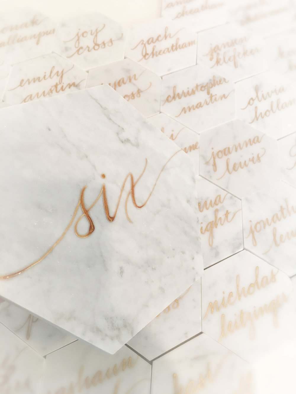 Houston Calligraphy White Marble Tile 4.JPG