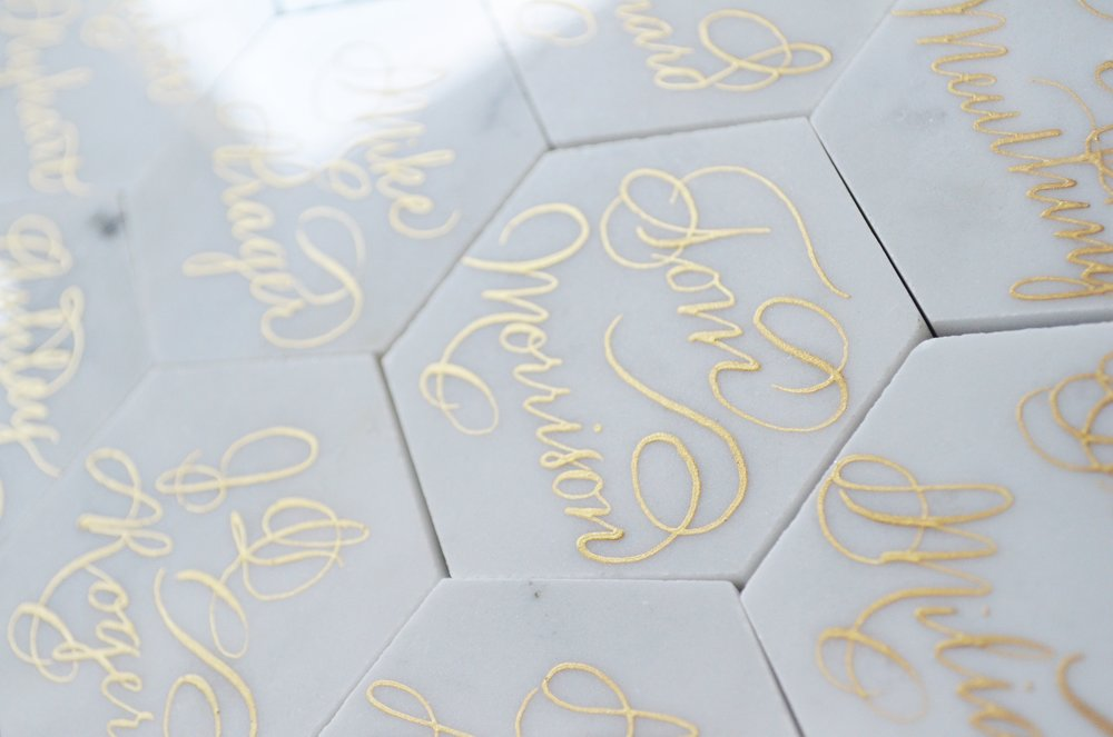 White Marble Calligraphy Place card Houston Los Angeles New York Miami 2.JPG