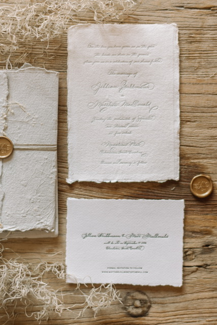 Houston Calligraphy Wedding Handmade Paper 2.JPG