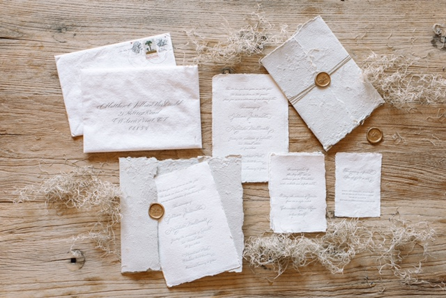 Houston Calligraphy Wedding Handmade Paper 3.JPG