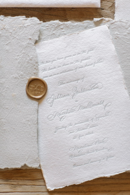 Houston Calligraphy Wedding Handmade Paper 5.JPG