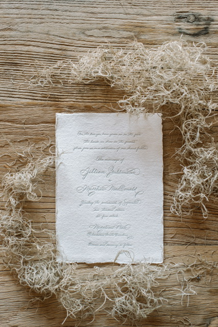 Houston Calligraphy Wedding Handmade Paper 6.JPG