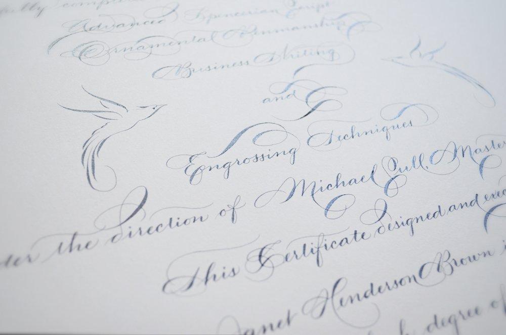 Houston calligrapher calligraphy — slinging ink