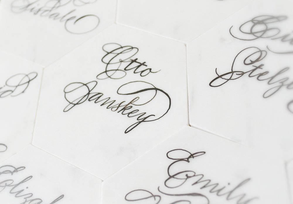 White Marble Calligraphy Houston Calligrapher .JPG