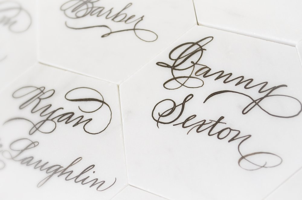 White Marble Calligraphy Houston Calligrapher 4.JPG