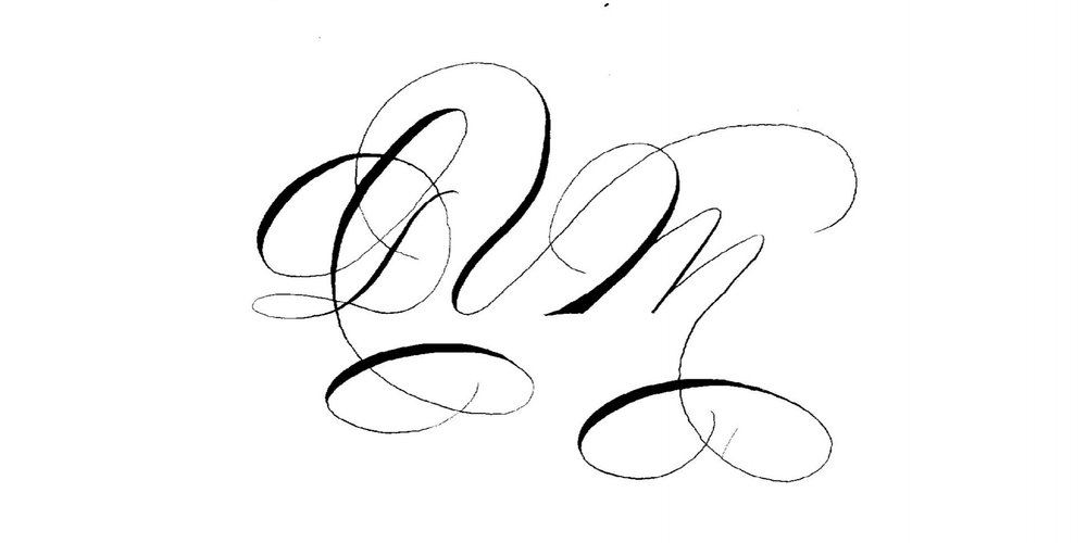 Monogram Branding Logo Houston Calligraphy Slinging Ink.jpg