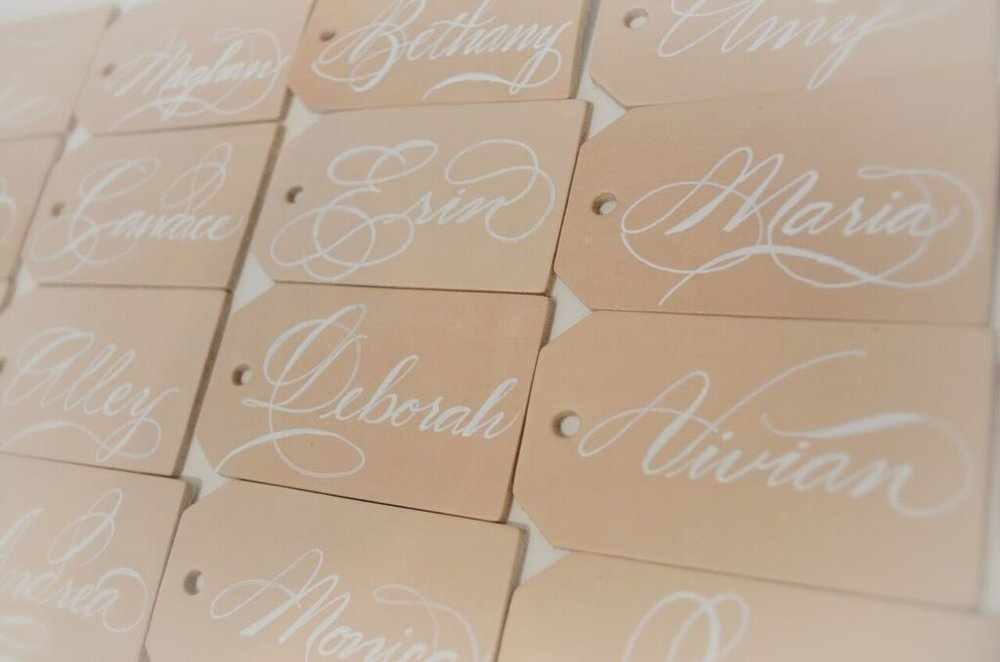 leather luggage tag houston calligraphy place card Nov 2017 5_preview.jpg