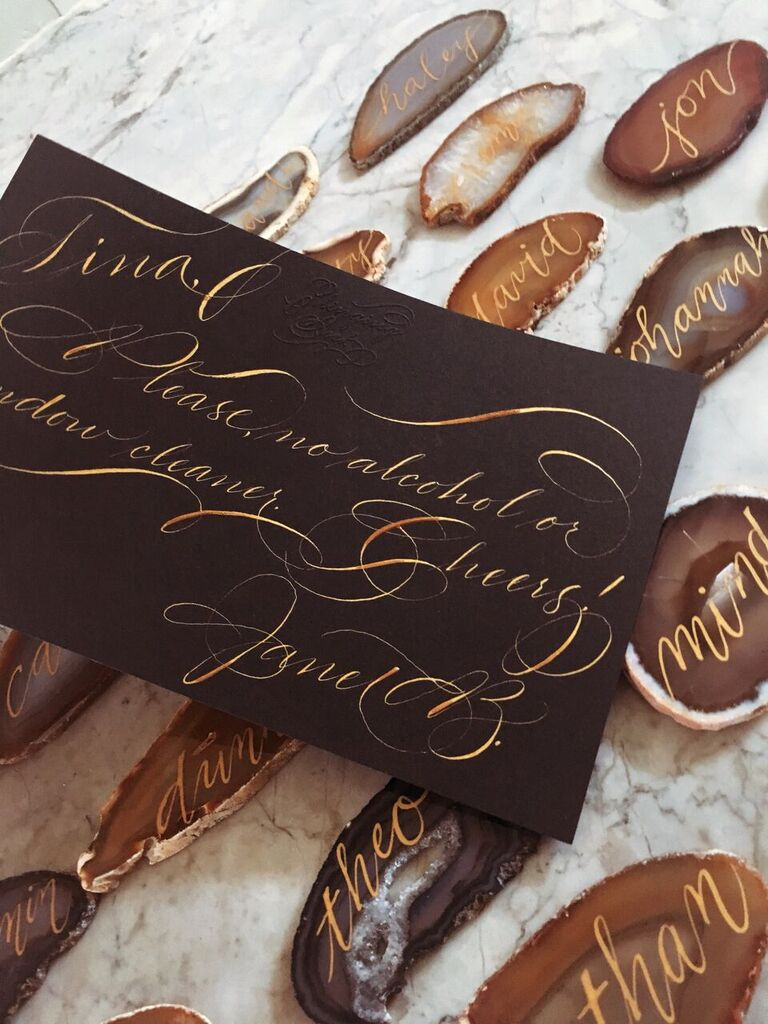 gold ink natural agate houston calligraphy note_preview.jpg