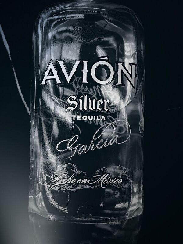 Avion Tequila Engraving spirit wine bottle Houston Engraver Calligraphy_preview.jpg