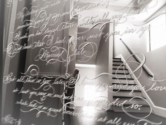 Love letter composed by Lord Byron & Calligraphed on a mirror by Yours Truly